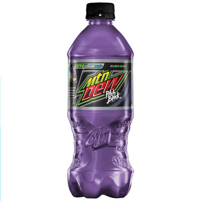 Mountain Dew Pitch Black Soda, 20 oz