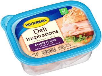 Butterball® Deli Inspirations Extra Thin Sliced Maple Honey Turkey Breast 9 oz. Plastic Tub