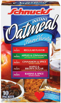 Schnucks Flavor Variety Instant Oatmeal 13.8 Oz Box