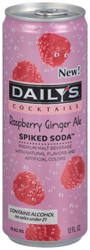 Daily's® Cocktails Spiked Soda™ Raspberry Ginger Ale 12 fl. oz. Can