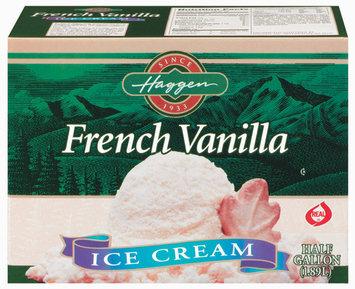 Haggen French Vanilla Ice Cream .5 Gal Carton
