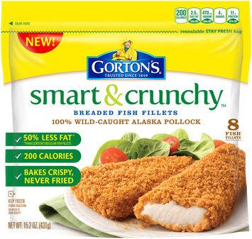 Gorton's® Smart & Crunchy Breaded Fish Fillets 15.2 oz. Bag