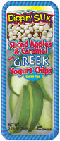 Reichel® Dippin' Sticks® Sliced Apples & Caramel with Greek Yogurt Chips 2.75 oz. Tray