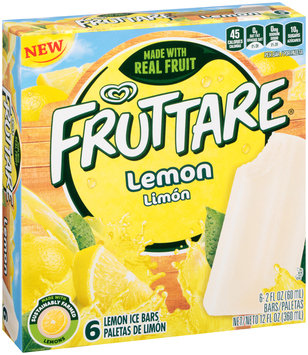 Fruttare Lemon Ice Bars 6 ct Box