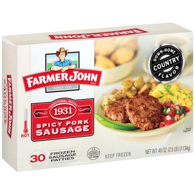 Farmer John® Spicy Pork Sausage Patties 40 oz. Box