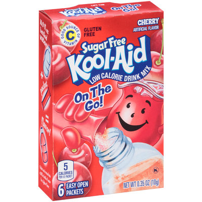 Kool-Aid On the Go! Sugar Free Cherry Low Calorie Drink Mix Packets 6 ct Box
