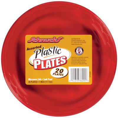 Schnucks Assorted Plastic Plates 20 Ct Wrapper