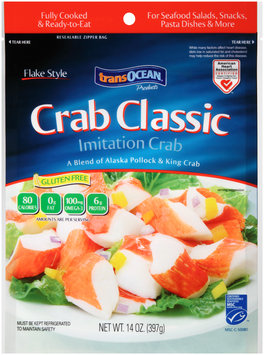 TransOcean® Products Crab Classic Flake Style Imitation Crab 14 oz. Bag
