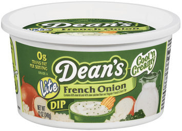 Dean's French Onion Lite Dip 12 Oz Tub