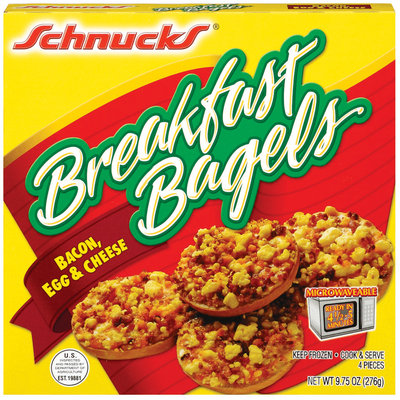 Schnucks Bacon Egg & Cheese Breakfast Bagels