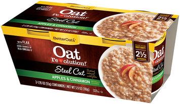 BetterOats® Oat Revolution!® Steel Cut Apples & Cinnamon Instant Oatmeal with Flax