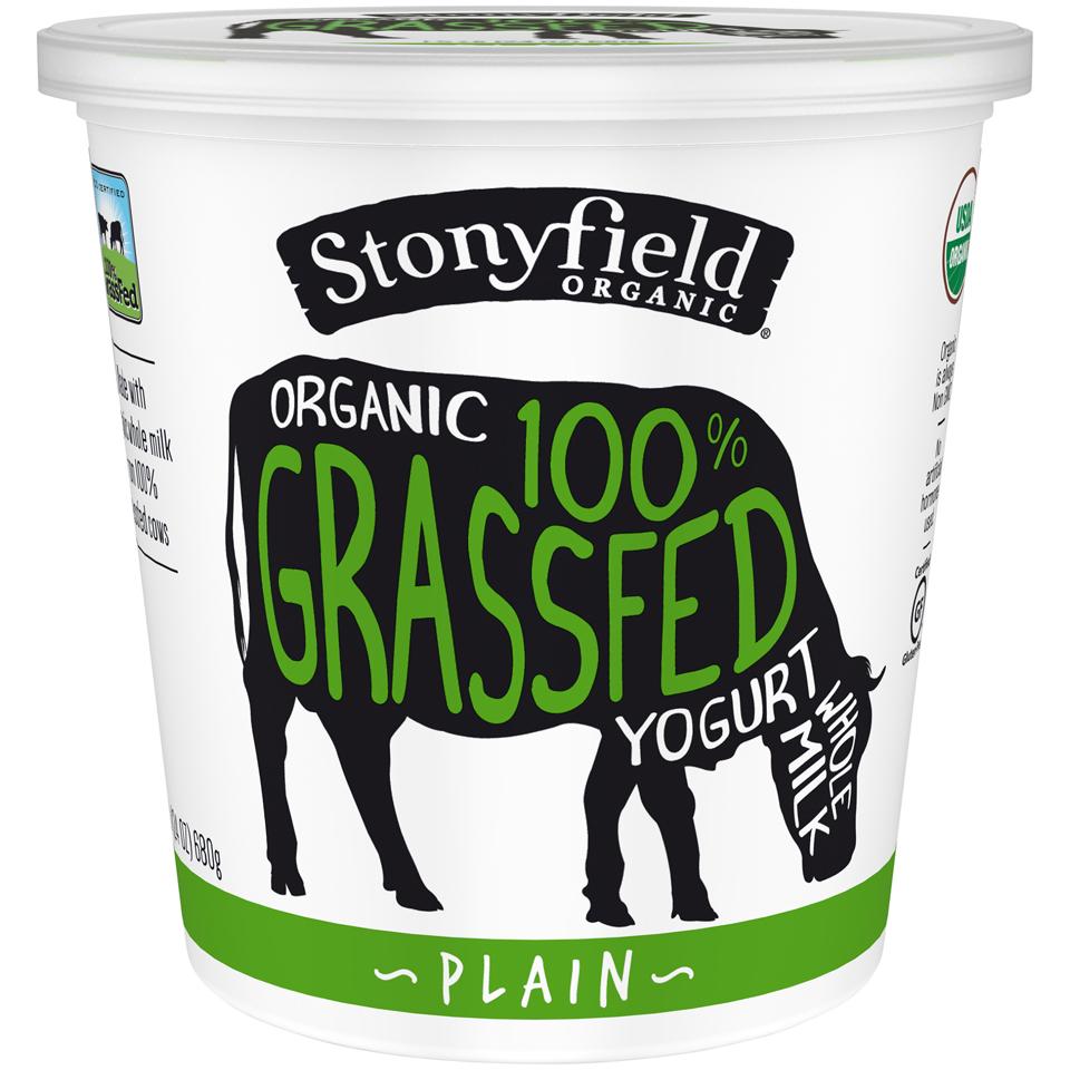 Stonyfield Organic® 100% Grassfed Plain Whole Milk Yogurt 24 oz. Tub