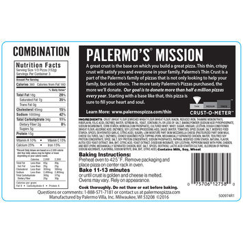 Palermo's® Thin Crust Combination Pizza 16.1 oz. Pack