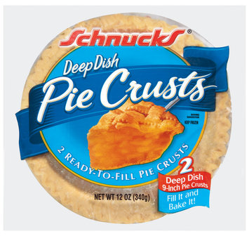 Schnucks Ready-to-Fill Deep Dish 2 Ct Pie Crusts 12 Oz Bag