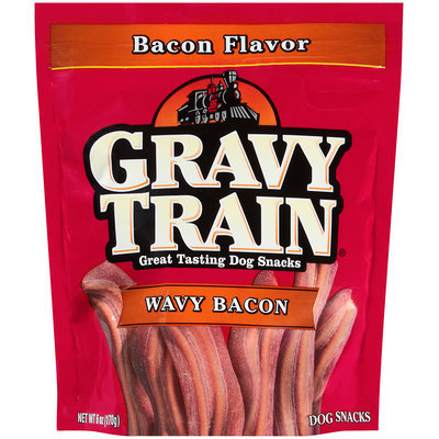 Gravy Train Wavy Bacon Dog Snacks, 6-Ounce