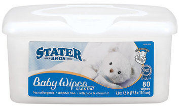 Stater Bros. Scented Baby Wipes 80 Ct Tube