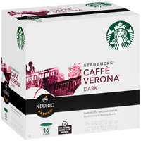 Starbucks Caffe Verona Dark Ground Coffee K-Cups