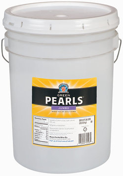 PEARLS Jumbo Whole Sicilian Style Green Olives 28 LB PAIL