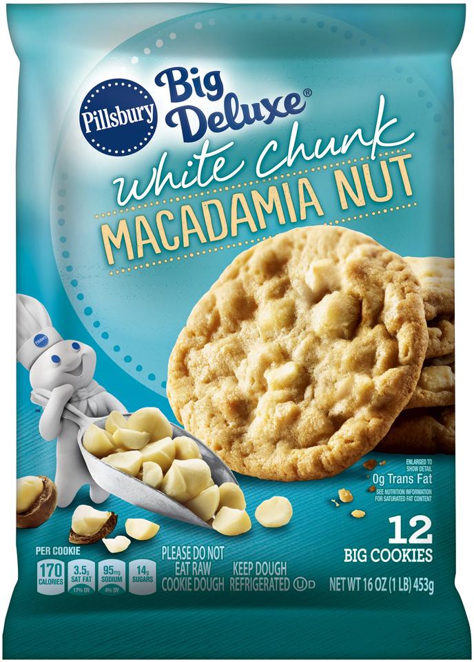 Pillsbury Big Deluxe® White Chunk Macadamia Nut Cookies 12 ct Pack