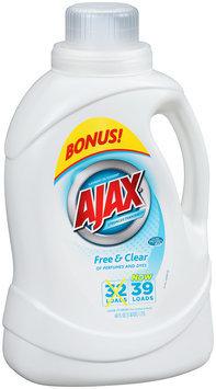 Ajax® Liquid Laundry Detergent Free & Clear of Perfumes & Dyes 60 fl oz Jug