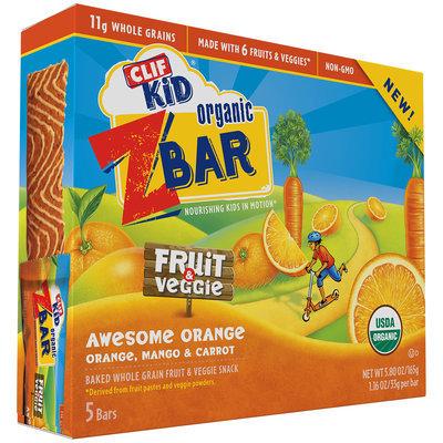 Clif Kid® Organic Awesome Orange Fruit & Veggie Z Bar 5-1.16 oz. Bars
