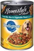 Pedigree® Home style Meals™ Prime Rib, Rice & Vegetable Flavor in Gravy Dog Food