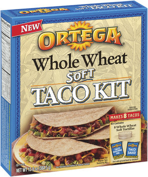 Ortega Whole Wheat Soft Taco Kit 13.6 Oz Box