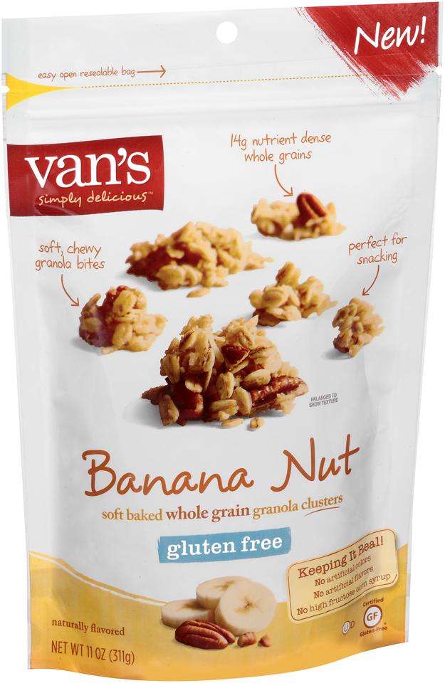 Van's Simply Delicious™ Gluten Free Banana Nut Granola 11 oz. Bag