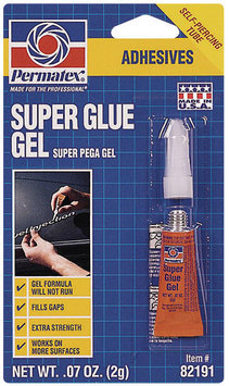 Permatex® Gel Carded Super Glue 2 G Tube