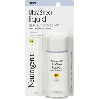 Neutrogena® Ultra Sheer Liquid Daily Sun Protection SPF 55 1.4 oz Peg