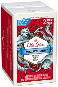 Old Spice Wild Collection Wolfthorn Bar Soap Twin Pack 2-4 oz. Bars