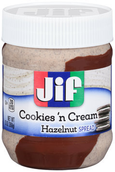 Jif® Cookies 'n Cream Hazelnut Spread 13 oz. Plastic Jar