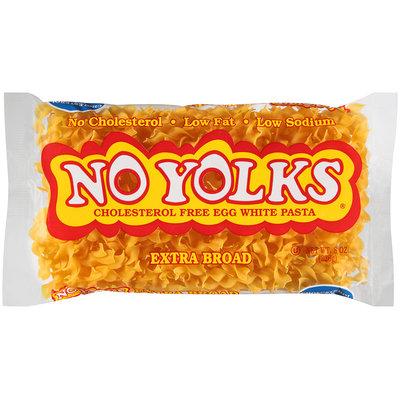 No Yolks® Cholesterol Free Egg White Pasta Extra Broad Noodles 8 oz. Bag