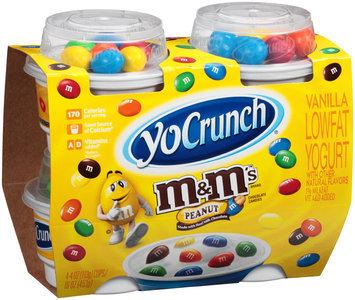 YoCrunch® Vanilla Lowfat Yogurt with Peanut M&M's™ Chocolate Candies 4-4 oz. Cups