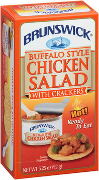 Brunswick® Ready to Eat Buffalo Style Chicken Salad with Crackers 3.25 oz. Box