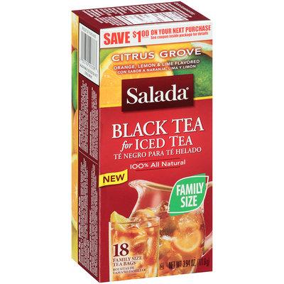 Salada® Tea Bags Black Tea for Iced Tea Citrus Grove 18 ct Box