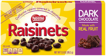 RAISINETS Dark Chocolate Covered Raisins 3.5 oz. Video Box (Pack of 18)