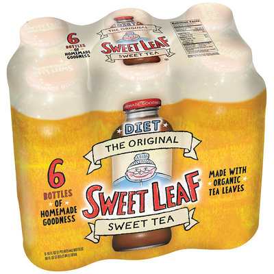 Sweet Leaf Diet Original Sweet Tea 6-16 fl. oz. Glass Bottles