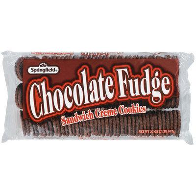 Springfield Chocolate Fudge Sandwich Creme Cookies 32 Oz Tray
