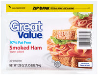 Great Value™ Smoked Ham 28 oz. ZIP-PAK®