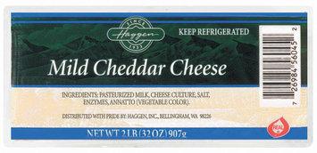 Haggen Mild Cheddar Cheese 2 Lb