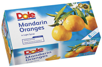 Dole Canned Fruit In Light Syrup 15 Oz Mandarin Oranges 8 Pk Cans