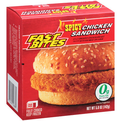 Fast Bites Spicy Chicken Sandwich 5.0 oz Box