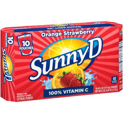 SunnyD® Orange Strawberry Citrus Punch 10-6 fl. oz. Pouches