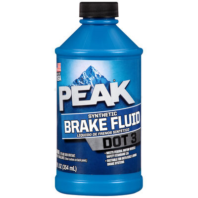 Peak® DOT 3 Synthetic Brake Fluid 12 fl. oz. Bottle
