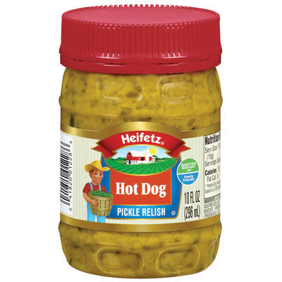 Heifetz Hot Dog Pickle Relish 10 Fl Oz Plastic Jar