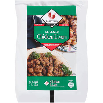 Tastybird® Ice Glazed Chicken Livers 16 oz. Bag