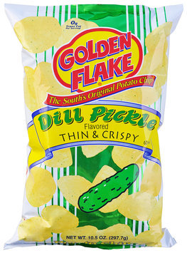 Golden Flake® Dill Pickle Flavored Thin & Crispy Potato Chips