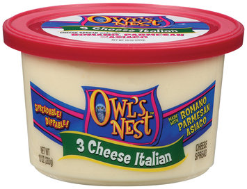 Owl's Nest 3 Cheese Italian Cheese Spread 10 Oz Tub
