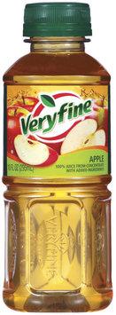 Veryfine Apple 100% Juice 10 Fl Oz Plastic Bottle